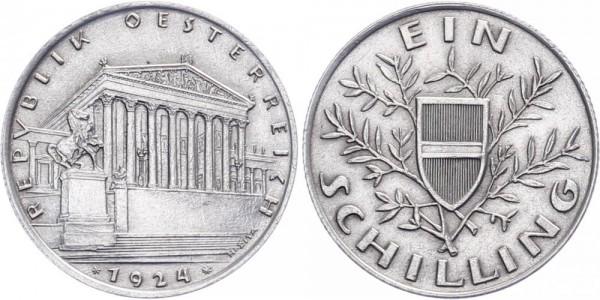 Österreich 1 Schilling 1924 Wien Kursmünze