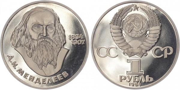 Sowjetunion 1 Rubel 1984 - Dmitrij Ivanovic Mendeleev