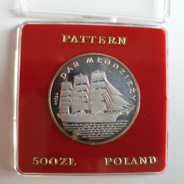 Polen 500 Zloty 1982 Segelschulschiff Dar Mlodziezy (Gift of Youth), PROBE, PP