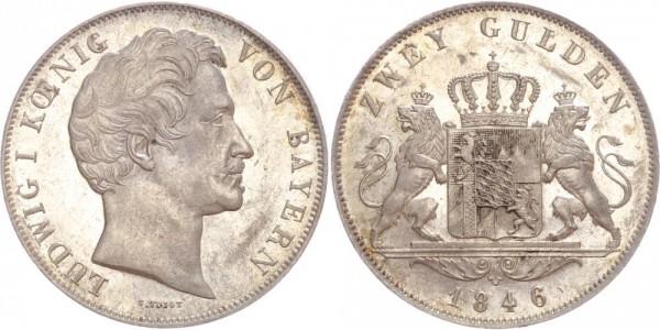 Bayern Doppelgulden 1846 D Ludwig I.