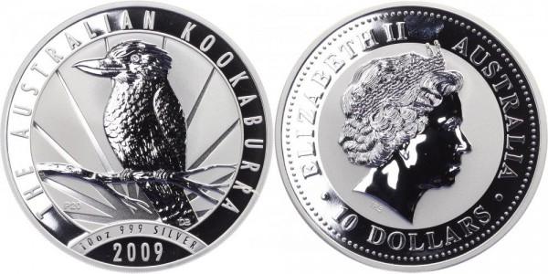 Australien 10 Dollars 2009 - Kookaburra - Lunar Serie