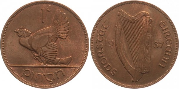 Irland Penny 1937