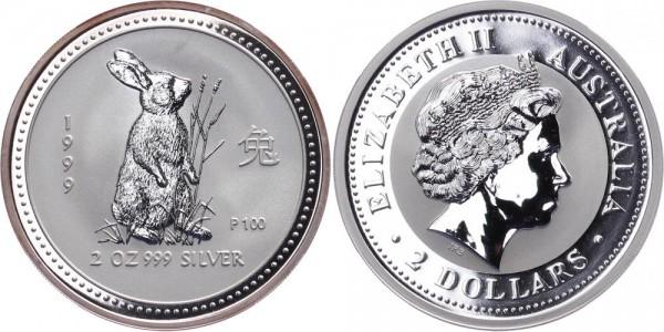 Australien 2 Dollars 1999 - Jahr des Hasen - Lunar Serie