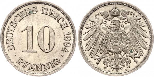 Kaiserreich 10 Pfennig 1904 A Kursmünze