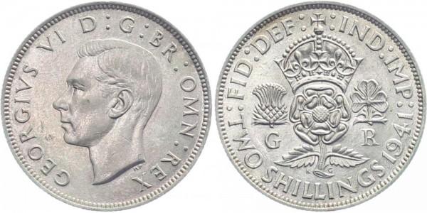Großbritannien 2 Shilling 1941 - Georg VI.