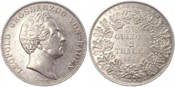 Baden Doppeltaler 1841 - Leopold
