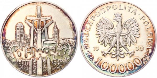 Polen 100.000 Zlotych 1990 - Solidarnosc
