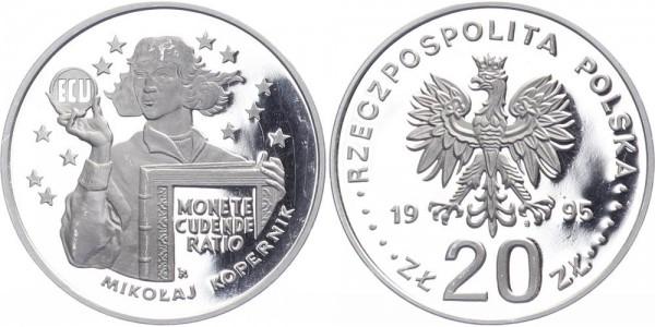 Polen 20 Zlotych 1995 - Kopernikus und ECU