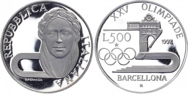 Italien 500 Lire 1992 - Olympische Spiele