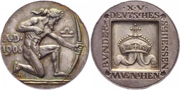 Bayern Medaille 1906 Bayern 15. Bundesschießen in München (v. G. Roemer ) 1906