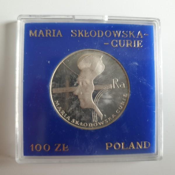 Polen 100 Zloty 1974 40. Todestag von Maria Sklodowska Curie PP