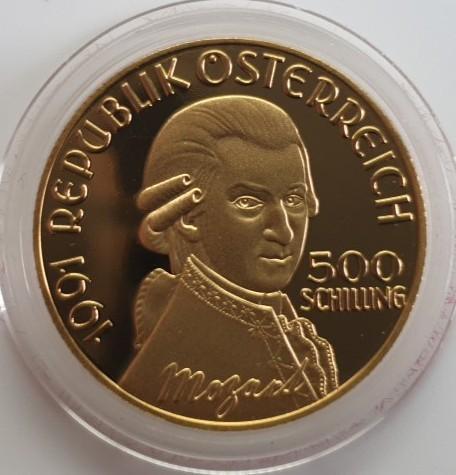 Österreich 500 Schilling 1991 200. Todestag von Wolfgang Amadeus Mozart / Don Giovanni