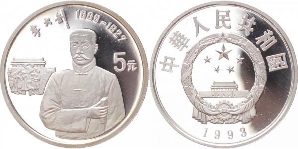 China 5 Yuan 1993 - Politiker Li Da-Chao