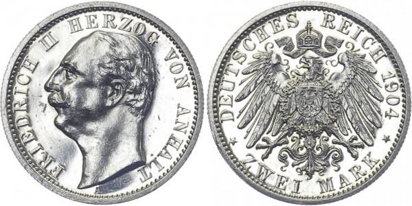 ANHALT 2 Mark 1904 A Friedrich II.