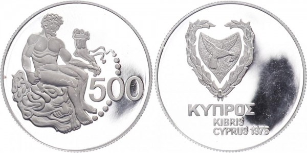 Zypern 500 Mils 1975 - Herkules