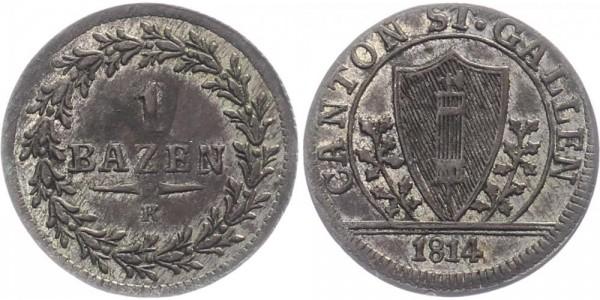 Schweiz 1 Batzen 1814 St. Gallen