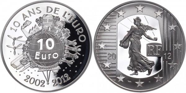 Frankreich 10 Euro 2012 - Der Euro