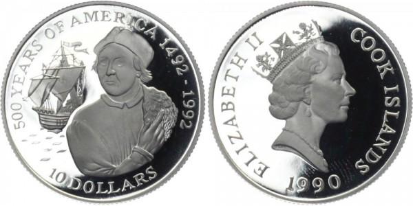 COOK ISLANDS 10 Dollars 1990 - 500 J.Amerika