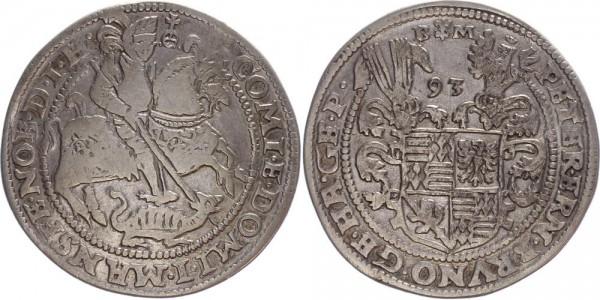 Mansfeld-Friedeburg Taler 1593 Eisleben Reiter zu Pferd