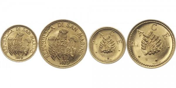 San Marino 1- und 2 Scudo 1979 - Frieden