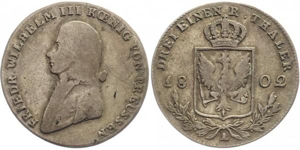 Preussen 1/3 Taler 1802 A Friedr. Wilhelm III.