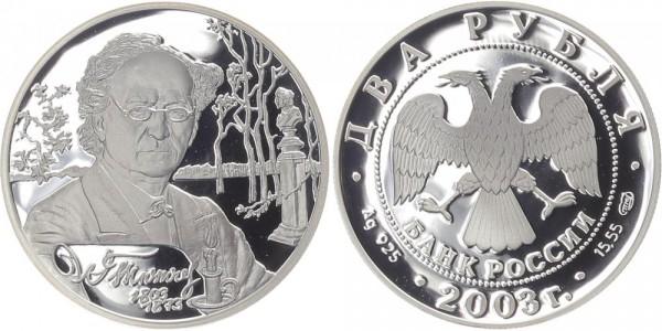Russland 2 Rubel 2003 - F.I. Tjucev