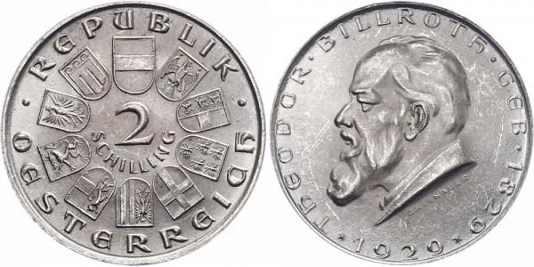 Österreich 2 Schilling 1929 - Billroth