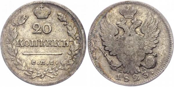 Russland 20 Kopeken 1823 - Alexander I, 1801-1825