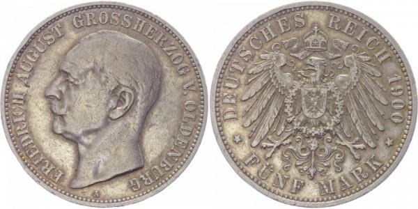 Oldenburg 5 Mark 1900 - Friedrich August