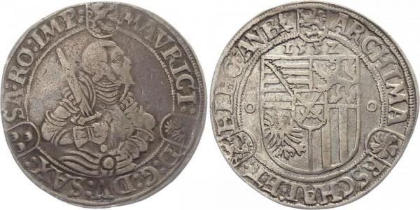 Sachsen 1 Taler 1552 Annaberg Moritz