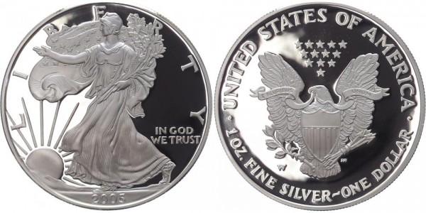 USA 1 Dollar 2005 W Eagle