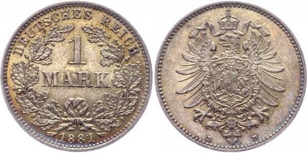 Kaiserreich 1 Mark 1881 D -