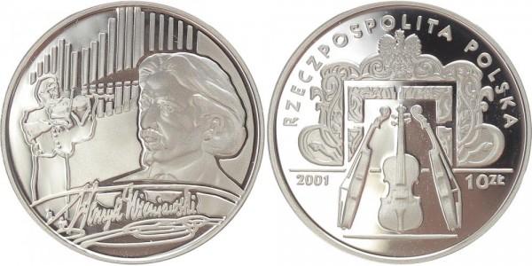 Polen 10 Zloty 2001 - Henryk Wieniawski