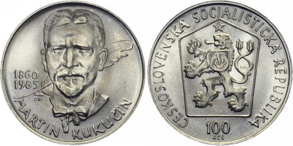 CSSR 100 Kč 1985 - Martin Kukucin