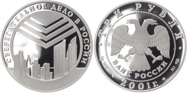 Russland 3 Rubel 2001 - Finanzbericht
