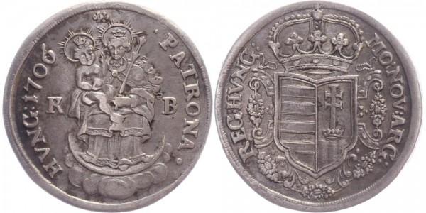 Ungarn 1/2 Taler 1706 - Kremnitz