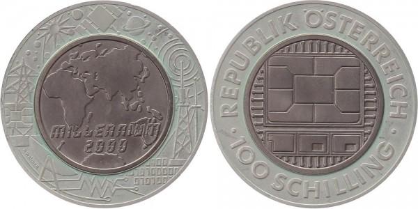 Österreich 100 Schilling 2000 - Millennium