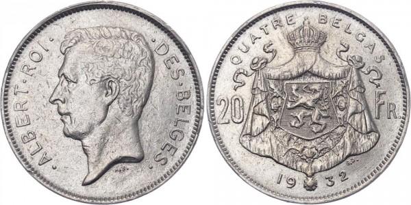 Belgien 20 Franken 1932 - Albert