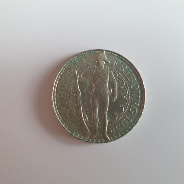 Schweiz 5 Franken 1934 B Fribourg Schützenfest