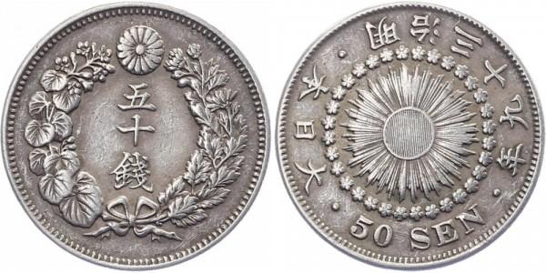 Japan 50 Sen 1906 - Mutsuhito