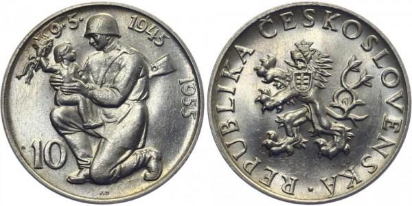 CSR 10 Kč 1955 - Befreiung von Deutschland