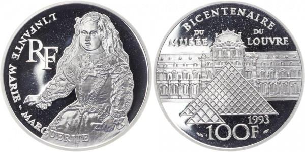 Frankreich 100 Francs 1993 - 200 Jahre Louvre, Marie-Marguerite
