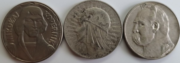 Polen 1x10 2x5 Zloty 1933-1989 Warschau 3er Lot Polnische Persönlichkeiten ss