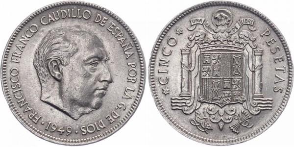 Spanien 5 Peseten 1949 - Franco