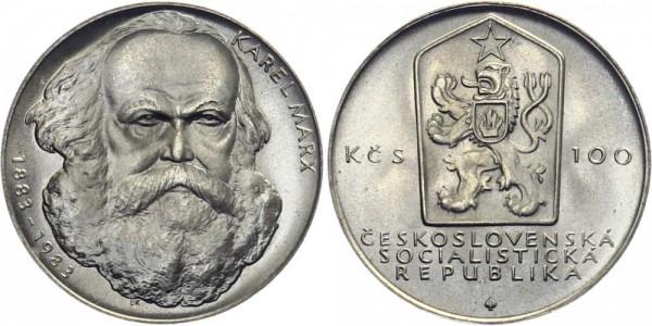 CSSR 100 Kč 1983 - Karl Marx