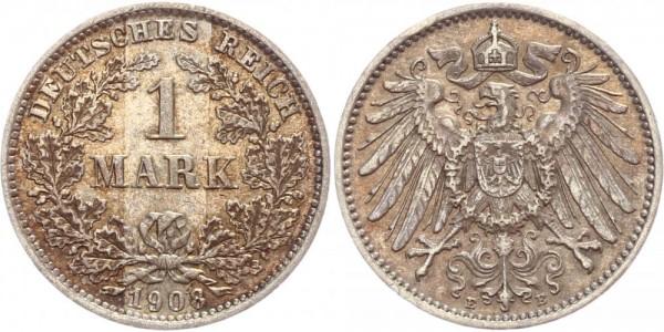 Deutsches Reich 1 Mark 1908 E Großer Adler