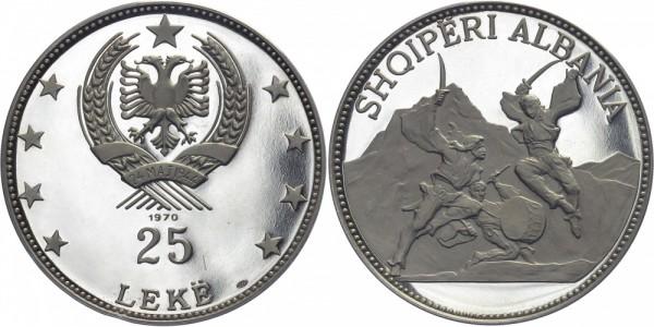 ALBANIEN 25 Leke 1970 - Schwärtertanz