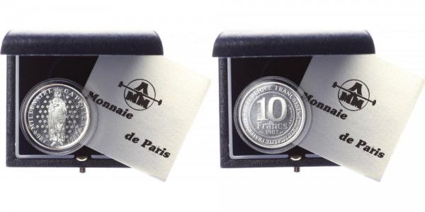 Frankreich 10 Francs 1987 - Hugo Capet