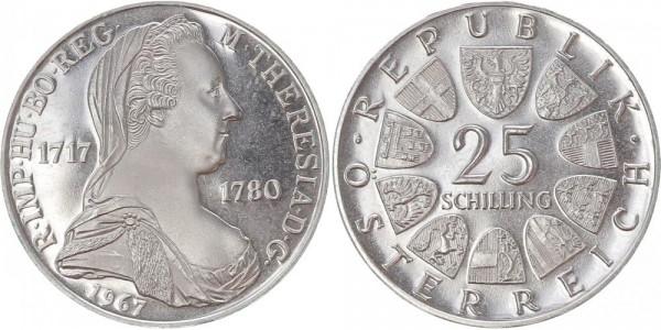 Österreich 25 Schilling 1967 - Maria Theresia