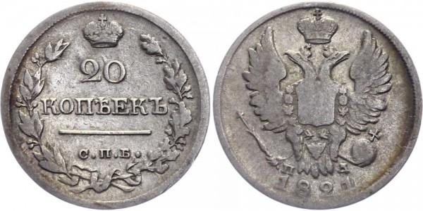 Russland 20 Kopeken 1821 - Alexander I, 1801-1825